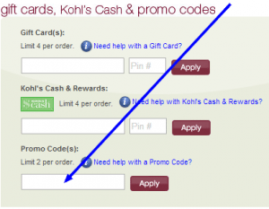 how to use your kohls promo code
