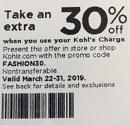kohls coupons march 2 2019